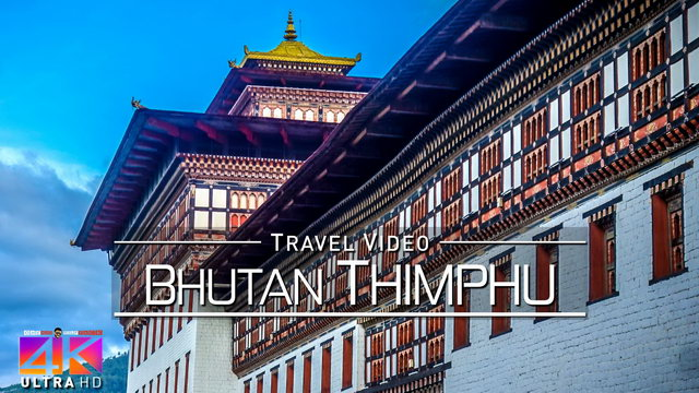 【4K】Virtual Walking Tour | Visiting Thimphu (Capital of Bhutan) | 2020 | UltraHD Travel Video