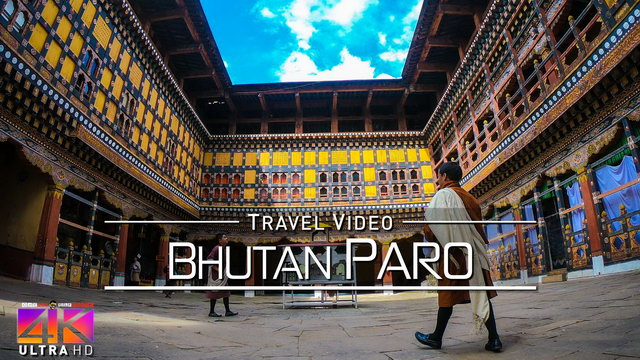 【4K】Virtual Walking Tour | Visiting Paro (Bhutan) | 2020 | UltraHD Travel Video