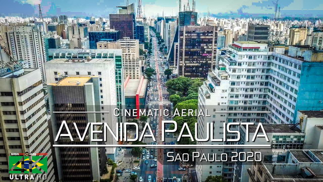 【4K】Avenida Paulista from Above - BRAZIL 2020 | Sao Paulo | Cinematic Wolf Aerial™ Drone Film