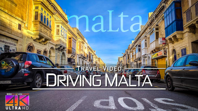 【4K】Driving and Boating around Malta (Mediterranean) | Beautiful Views 2020 | UltraHD Travel Video