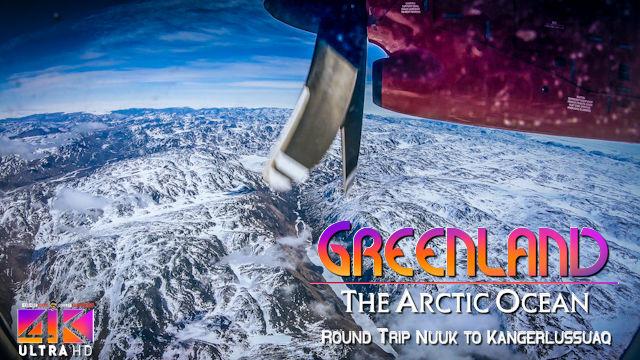 【4K】Flight Footage | Air Greenland | Return Trip | Nuuk to Kangerlussuaq | 2020 | Propeller Plane