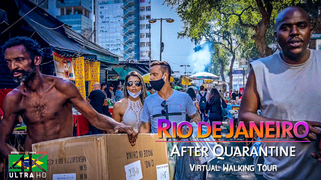 【4K】Virtual Walking Tour | LOCKDOWN Rio de Janeiro | Covid-19 Corona Virus | June 18, 2020