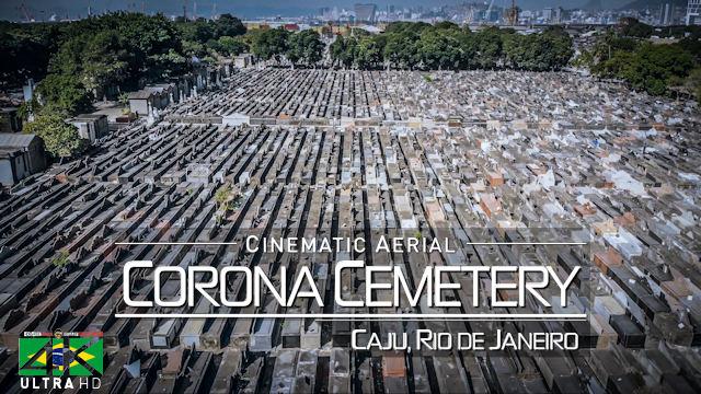 【4K】1 HOUR DRONE FILM: «Covid-19 Cemetery | Caju, Rio de Janeiro» Ultra HD (for 2160p Ambient TV)