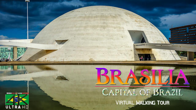 【4K】VIRTUAL WALKING TOUR: «BRASILIA - Brazil» Ultra HD + Chillout Music (for 2160p Ambient TV)