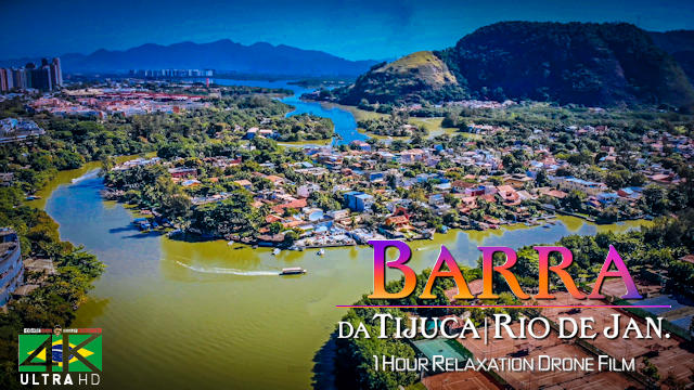 【4K】1 HOUR DRONE FILM: «Barra da Tijuca (Rio)» Ultra HD + Chillout Music (for 2160p Ambient TV)