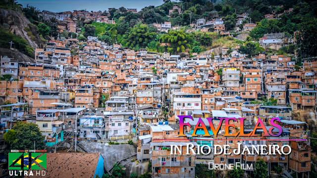 【4K】30 MIN DRONE FILM: «Favelas of Rio de Janeiro» Ultra HD