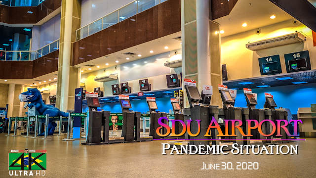 【4K】VIRTUAL WALKING TOUR: «Lockdown in Rio de Janeiro - Santos Dumont Airport Brazil 2020» Covid-19