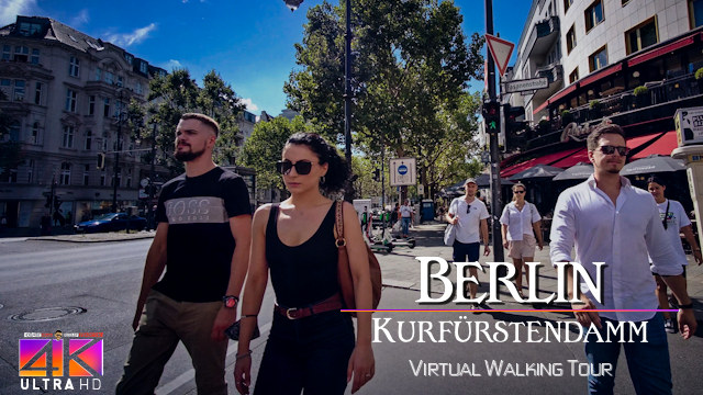 【4K】VIRTUAL WALKING TOUR: «Berlin Kudamm - Germany 2020» Ultra HD | Binaural 3D City Sounds