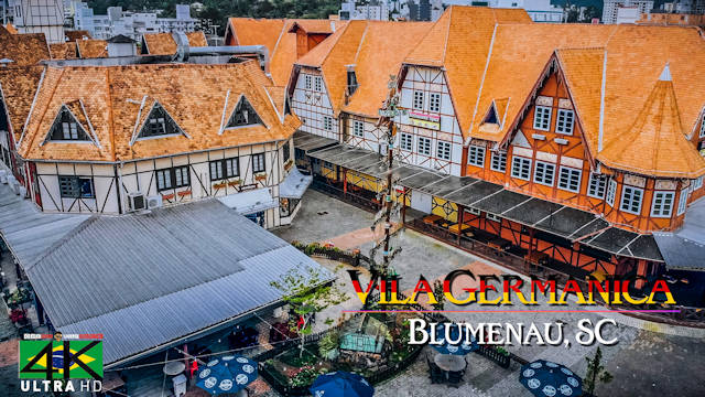 【4K】Vila Germanica from Above - BRAZIL 2020 | Blumenau, SC | Cinematic Wolf Aerial™ Drone Film