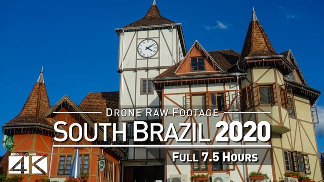 【4K】Drone RAW Footage | This is SOUTH BRAZIL 2020 | Porto Alegre Curitiba Gramado UltraHD Stock Vid