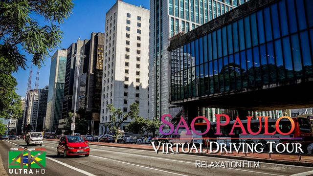 【4K】2.5 HOUR RELAXATION FILM: «Driving in Sao Paulo (Brazil)» Ultra HD (for 2160p Ambient TV)