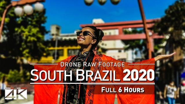 【4K】Drone RAW Footage | This is SOUTH BRAZIL 2020 | Rio Grande do Sul SC Parana UltraHD Stock Video