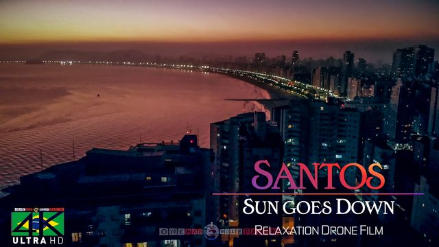 【4K】Sunset in Santos from Above - BRAZIL 2020 | Cinematic Wolf Aerial™ Drone Film