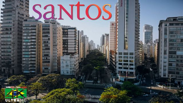 【4K】The Skyline of Santos from Above - BRAZIL 2020 | Cinematic Wolf Aerial™ Drone Film