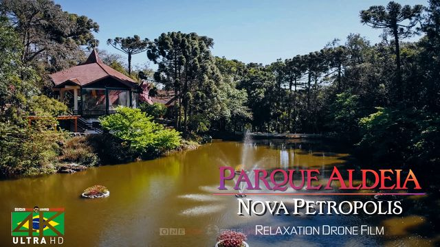 【4K】Parque Aldeia do Imigrante from Above - BRAZIL 2020 | Nova Petropolis, RS Cinematic Wolf Aerial™