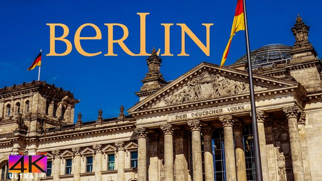 【4K】1 HOUR RELAXATION FILM: «Driving in Berlin (Germany)» Ultra HD (for 2160p Ambient TV)