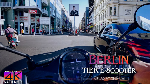 【4K】3.5 HOUR RELAXATION FILM: «Driving e-Scooter in Berlin (Germany)» Ultra HD (2160p Ambient TV)