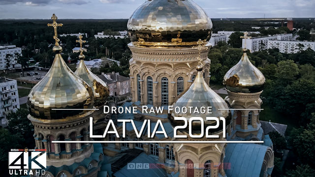 【4K】Drone RAW Footage | This is LATVIA 2021 | Riga Leukadijas Liepaja Gaujas | UltraHD Stock Video