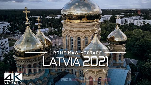 【4K】Drone RAW Footage | This is LATVIA 2021 | Riga Leukadijas Liepaja Gaujas | UltraHD Stock Video