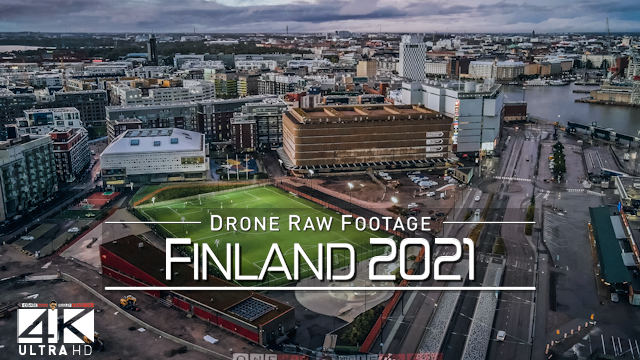 【4K】Drone RAW Footage | This is FINLAND 2021 | Helsinki | UltraHD Stock Video