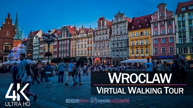 【4K 60fps】VIRTUAL WALKING TOUR: «Wroclaw - Poland 2021» | Binaural Sounds Ultra HD (2160p TV)