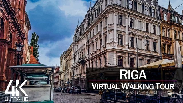 【4K 60fps】VIRTUAL WALKING TOUR: «Riga - Latvia 2021» | Binaural Sounds Ultra HD (2160p TV)
