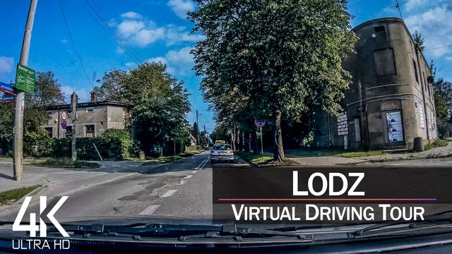 【4K 60fps】½ HOUR RELAXATION FILM: «Driving in Łódź (Poland)» Ultra HD (for 2160p Ambient TV)