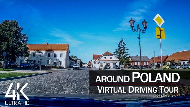 【4K 60fps】1 ½ HOUR RELAXATION FILM: «Driving in Poland (Countryside)» Ultra HD (for 2160p TV)