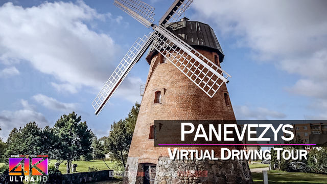 【4K 60fps】½ HOUR RELAXATION FILM: «Driving in Panevezys (Lithuania)» Ultra HD (for 2160p TV)