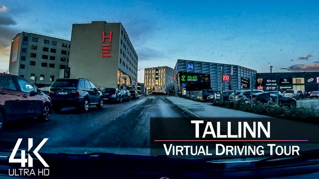 【4K 60fps】¾ HOUR RELAXATION FILM: «Driving in Tallinn (Capital Estonia)» Ultra HD (for 2160p TV)