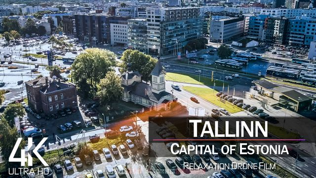 【4K】Tallinn from Above | Capital of ESTONIA 2021 | Cinematic Wolf Aerial™ Drone Film