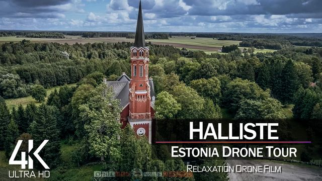 【4K】¼ HOUR DRONE FILM: «Holy Anna Church» | Estonia Ultra HD | Chillout (2160p Ambient UHD TV)