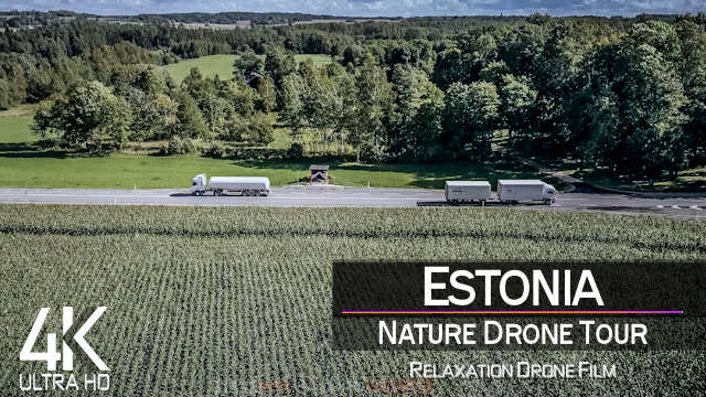 【4K】¼ HOUR DRONE FILM: «The Nature of Estonia» | Ultra HD | Chillout (2160p Ambient UHD TV)