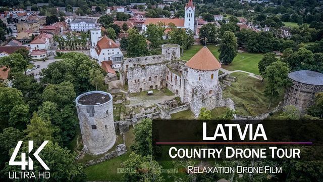 【4K】1 ½ HOUR DRONE FILM: «The Nature of Latvia» | Ultra HD | Chillout (2160p Ambient UHD TV)