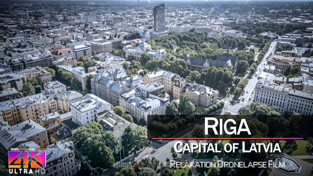 【4K】DRONELAPSE FILM: «Riga» | LATVIA 2021 | Cinematic Wolf Aerial™ Drone Hyperlapse Film