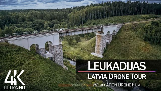 【4K】½ HOUR DRONE FILM: «Leukadijas Railway Bridge» | UltraHD | Chillout (2160p Ambient UHD TV)