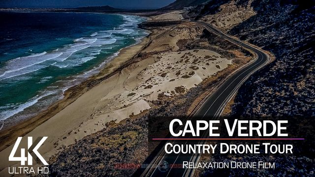 【4K】½ HOUR DRONE FILM: «The Beauty of Cape Verde» | Ultra HD | Chillout (2160p Ambient UHD TV)