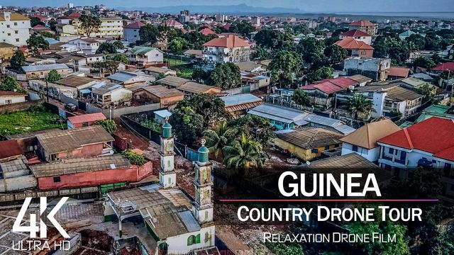 【4K】¼ HOUR DRONE FILM: «The Beauty of Guinea» | Ultra HD | Chillout (for 2160p Ambient UHD TV) | 806