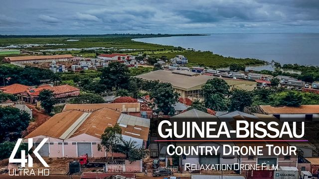 【4K】¼ HOUR DRONE FILM: «The Beauty of Guinea-Bissau» | Ultra HD | Chillout (2160p Ambi UHD TV)