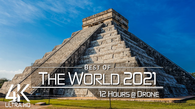 【4K】THE WORLD as you have never seen before 2021 | 12 HOURS | Cinematic Aerial | Planet Earth