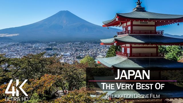 【4K】½ HOUR DRONE FILM: «The Beauty of Japan 2021» | Ultra HD | Chillout Music (Ambient TV)