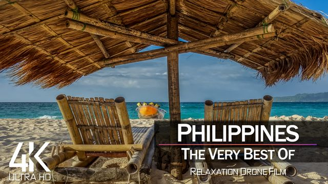 【4K】¼ HOUR DRONE FILM: «The Beauty of the Philipppines 2021» | Ultra HD | Chillout (AmbientTV)