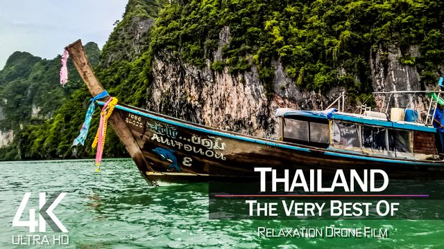 【4K】½ HOUR DRONE FILM: «The Beauty of Thailand 2021» | Ultra HD | Chillout Music (Ambient TV)