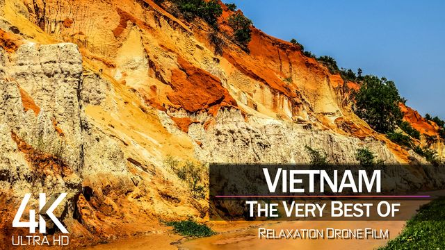 【4K】1 HOUR DRONE FILM: «The Beauty of Vietnam 2021» | Ultra HD | Chillout Music (Ambient TV)