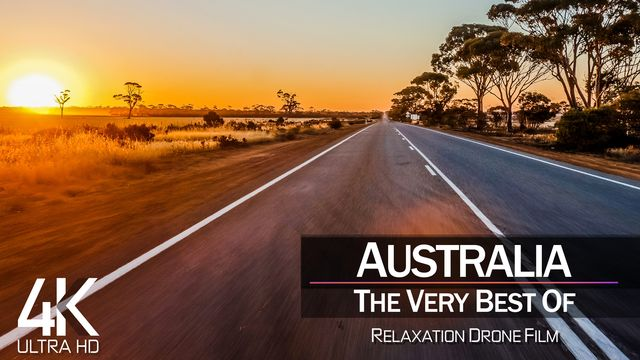 【4K】½ HOUR DRONE FILM: «The Beauty of Australia 2021» | Ultra HD | Chillout Music (Ambient TV)