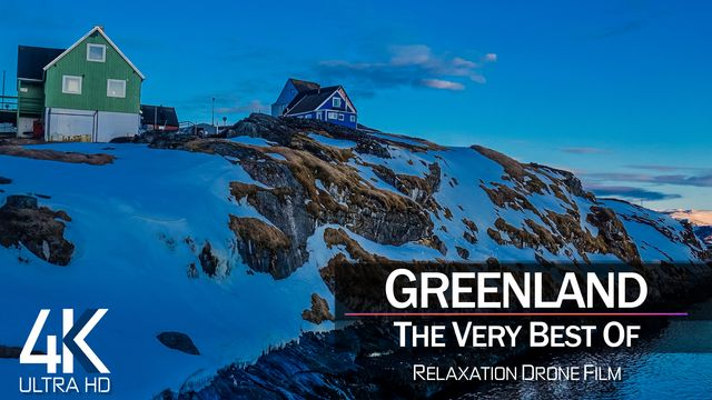 【4K】¼ HOUR DRONE FILM: «The Beauty of Greenland 2021» | Ultra HD | Chillout Music (Ambient TV)