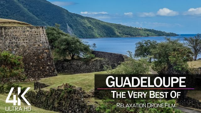 【4K】¼ HOUR DRONE FILM: «The Beauty of Guadeloupe 2021» | Ultra HD | Chillout Music (AmbientTV)