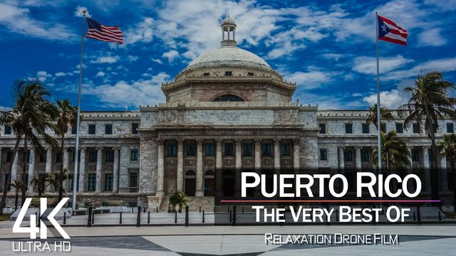 【4K】¼ HOUR DRONE FILM: «The Beauty of Puerto Rico 2021» | Ultra HD | Chillout Music Ambient TV