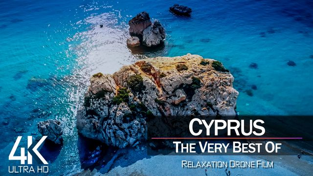 【4K】¼ HOUR DRONE FILM: «The Beauty of Cyprus 2021» | Ultra HD | Chillout Music (Ambient TV)