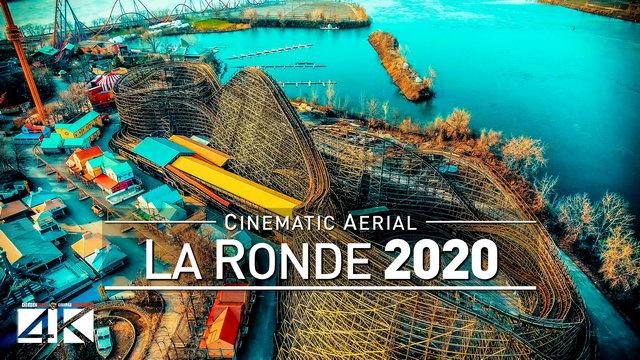 【4K】Drone Footage | LA RONDE Amusement Park ..:: Montreal 2019